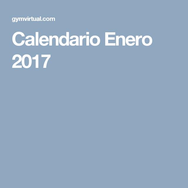 Calendario Enero 2017