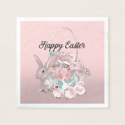Cute pink easter birthday party egg hunt napkin home gifts ideas cute pink easter birthday party egg hunt napkin home gifts ideas decor special unique custom negle Choice Image
