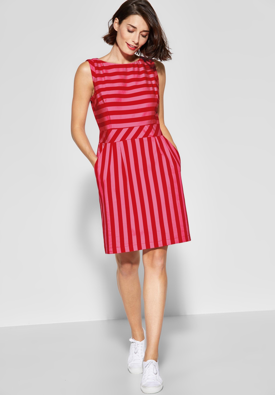 Street One Etuikleid Mit Streifen In Vivid Red Etuikleid Kleider Kleid Arbeit