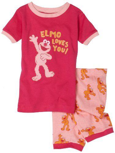 ce2a532bff Hatley Sesame Street Girls 2-6x Elmo Girl Pajama Sets  7.44 ...