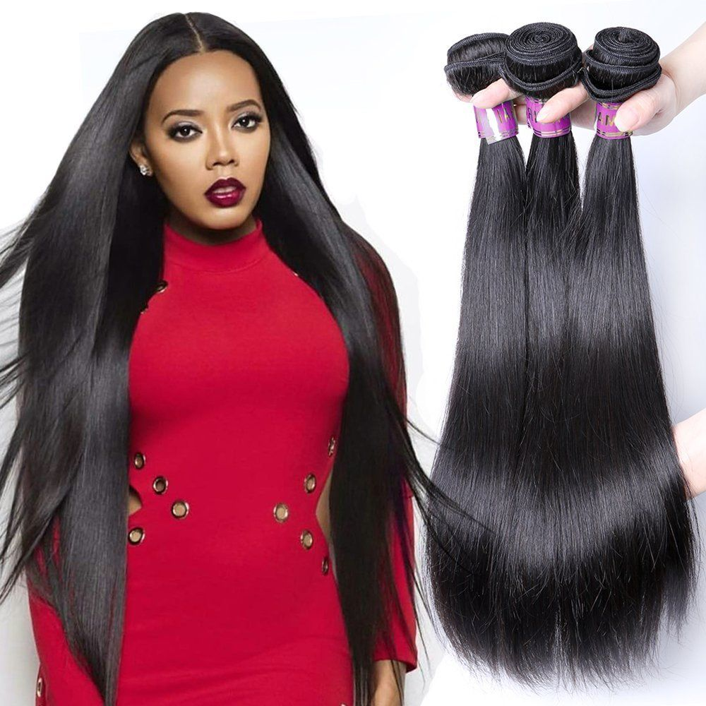 XBLHAIR Brazilian Virgin Remy Human Hair Extension Weave 3 Bundles 300g äóñ Silky Straight,10-26, Natural Color (20 22 24) >>> This is an Amazon Affiliate link. To view further for this item, visit the image link.