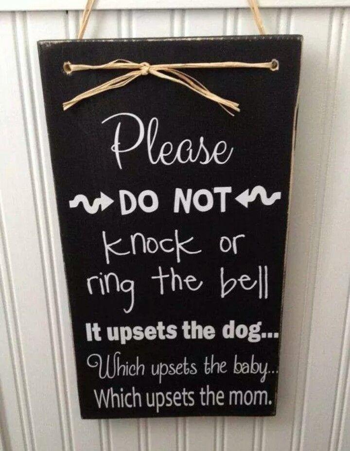 Please Do Not Knock Baby Sleep Pinterest Babies Nursery And