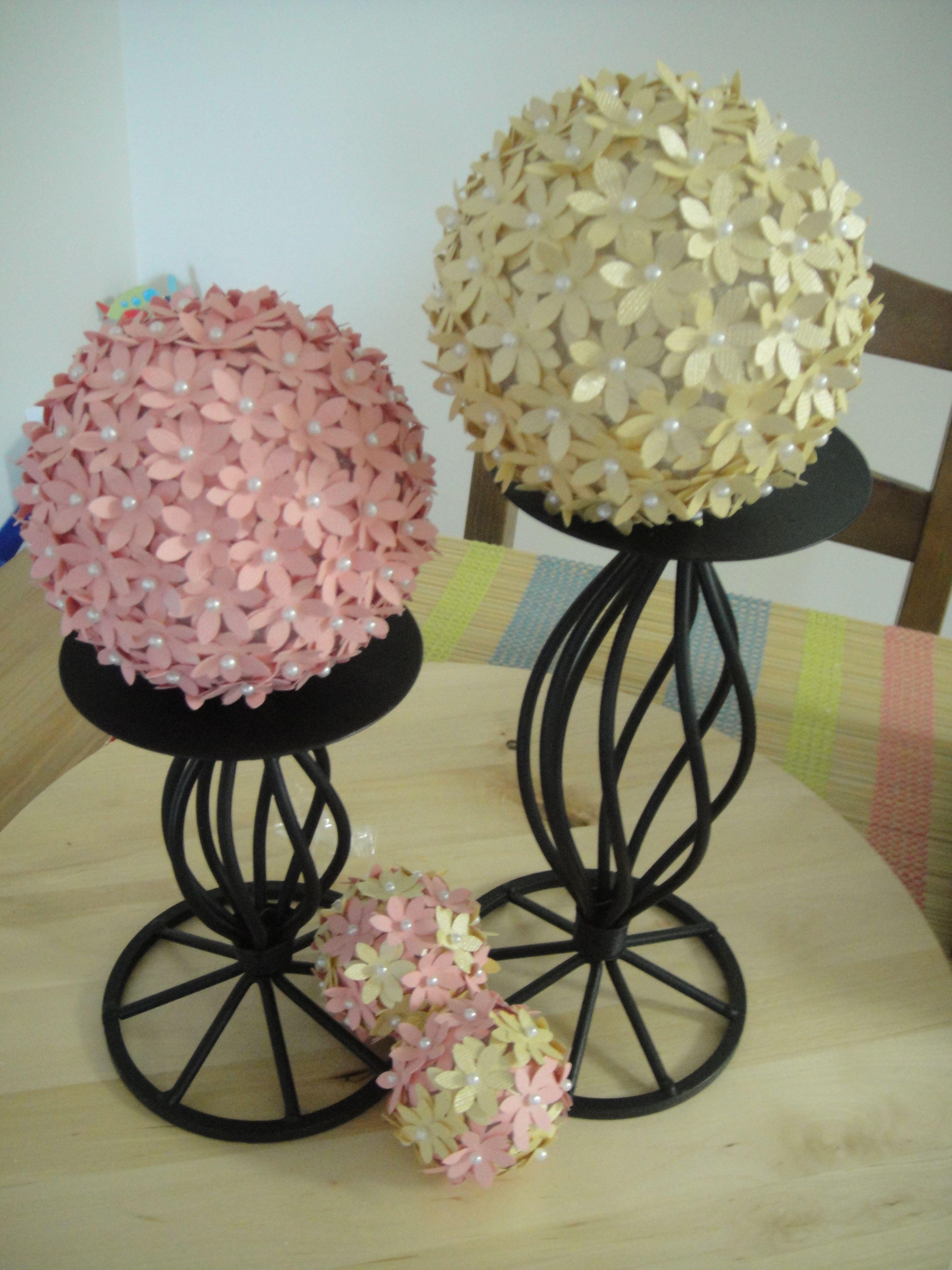 DIY decorative balls I made. Dollar tree diy crafts
