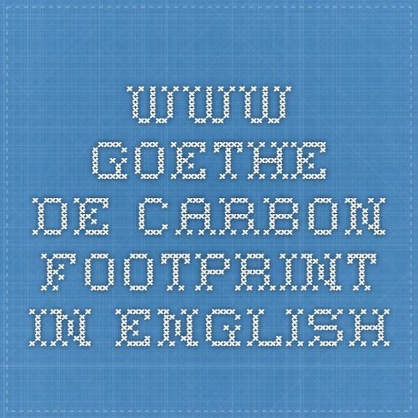 www.goethe.de Carbon footprint in English | Spiele und Rechnen