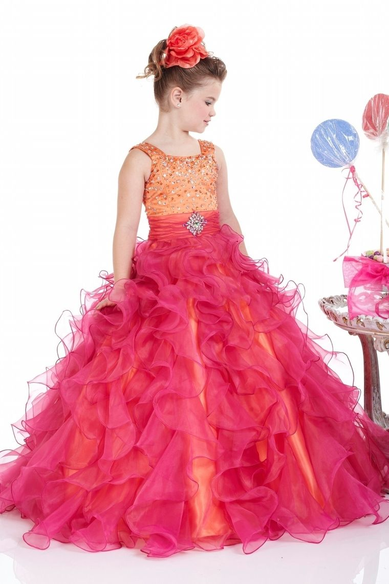 New arrival flower girl dresses a line straps floor length organza