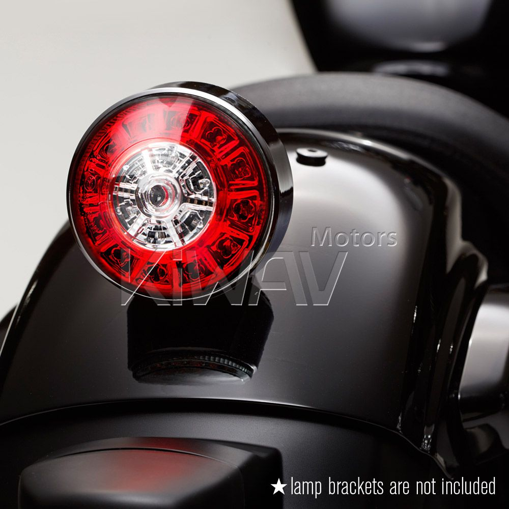 Motorcycle led round tail light brake light universal fit lights