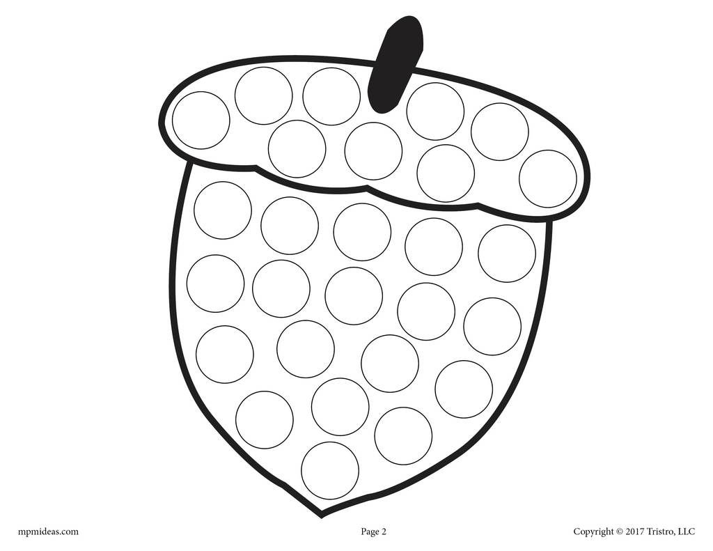 Fall Do-A-Dot Printables   Do a dot, Fall coloring pages ...