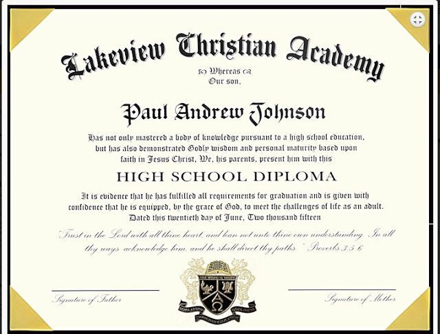ABC\u0027s and Sweet Tea Exclusive High School Diploma from