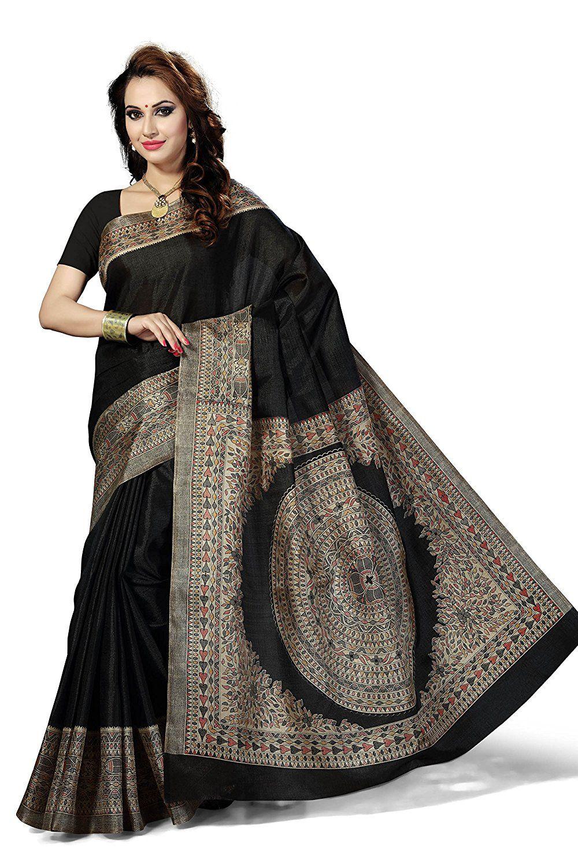 8d6561cd355174 Rani Saahiba Synthetic Saree (Skr2467 Black)  Amazon.in  Clothing    Accessories