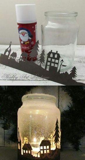 Silhouette Candle Christmas Jars Christmas Projects Diy Mason Jar Christmas Crafts