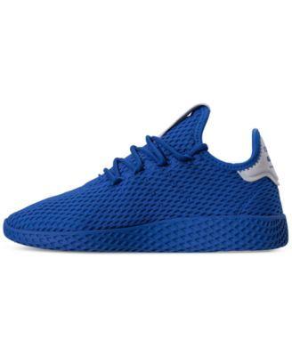 d4a1ee64b01ba adidas Originals Big Boys  Pharrell Williams Tennis Hu Casual Sneakers from Finish  Line - Blue 5.5
