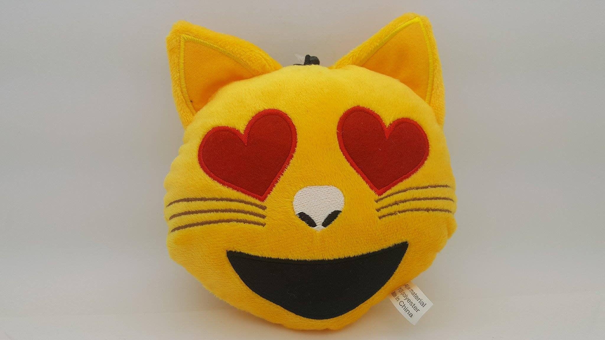 Emoji Pillows Heart Eyes Cat PlushMoji Emoji pillows