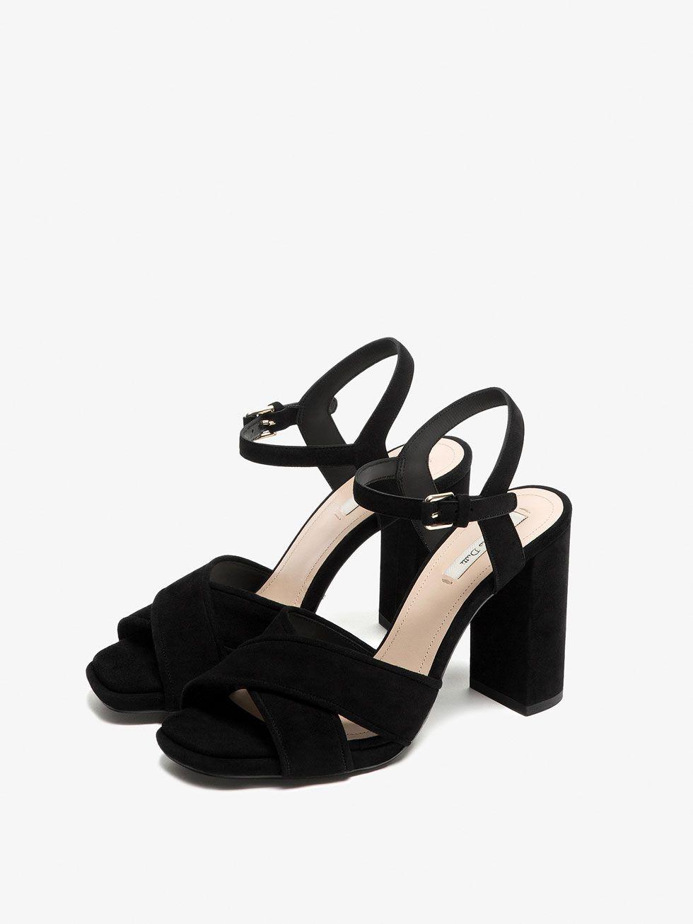 Zapatos Ante Ver Mujer Negro De Sandalia Cruzada Todo Piel ukZiPX