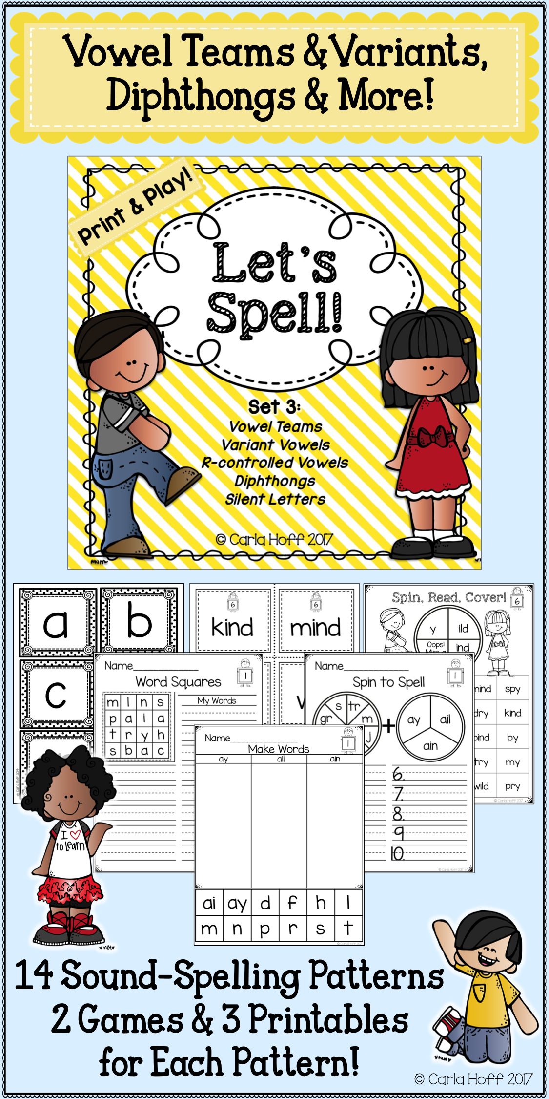 Spelling Worksheets Amp Games For Vowel Patterns Independent