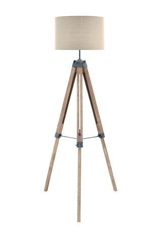 Buy wooden tripod floor lamp from the next uk online shop living buy wooden tripod floor lamp from the next uk online shop mozeypictures Gallery