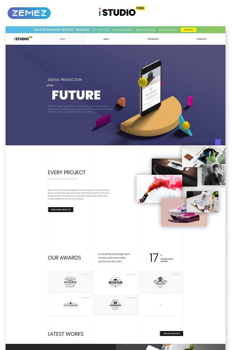 Free HTML5 Theme Design Studio Website Template in 2020