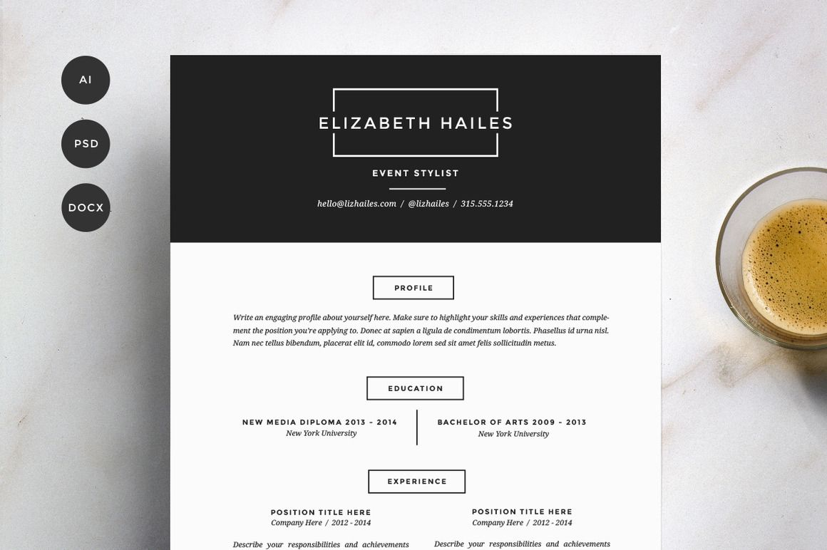 Resume Template  Pack  Cv Template  Resume Templates