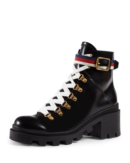 Gucci Leather Combat Boot 1