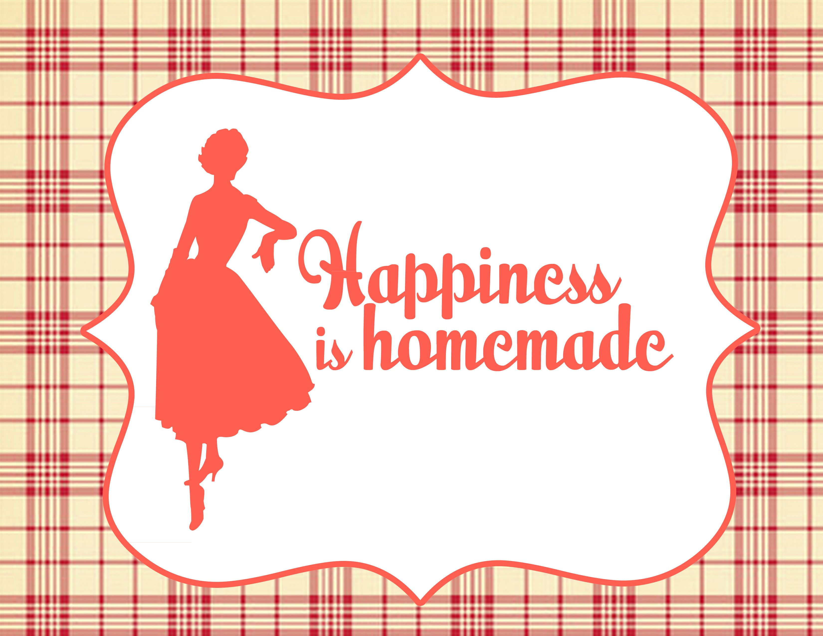 Retro Housewife Printable Party Set - Kitchen Sign   www.printablepartyshop.com