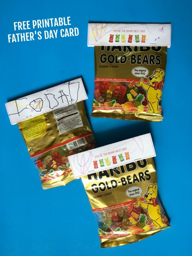 Free printble father's day card--You're the BEARY best dad ...