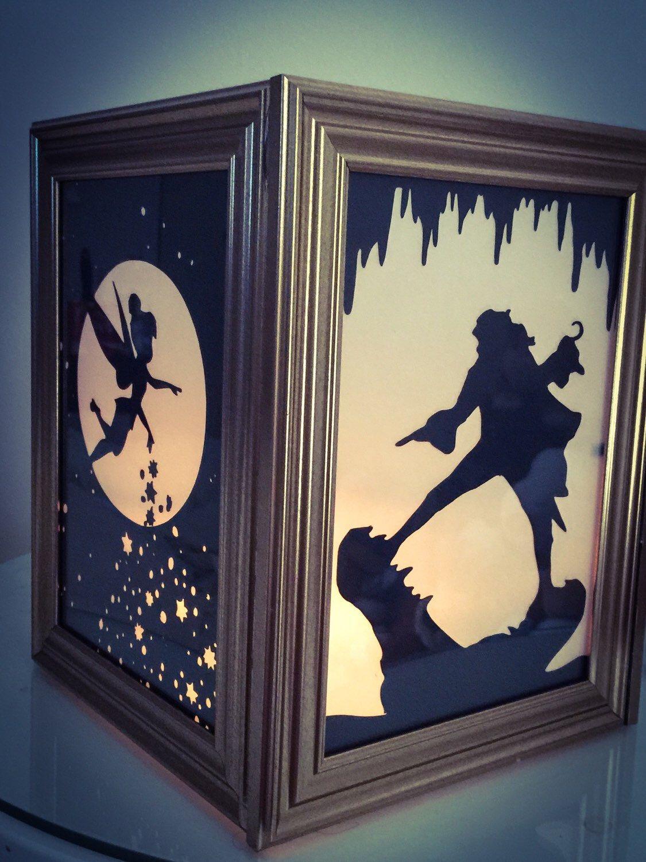 Peter Pan wooden lantern