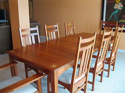 Stickley Harvey Ellis 11 Piece Dining Set W Inlay Table 2 Arm Chair