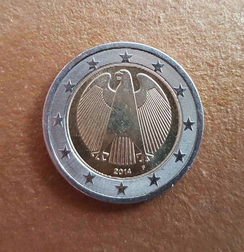 Zwei Euro Münze mit Fehlprägung Jahr 2014F Prägung, Ebay