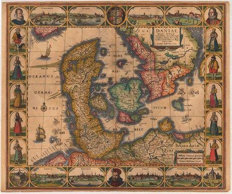 Danmark 1629 Billeder Gamle Kort
