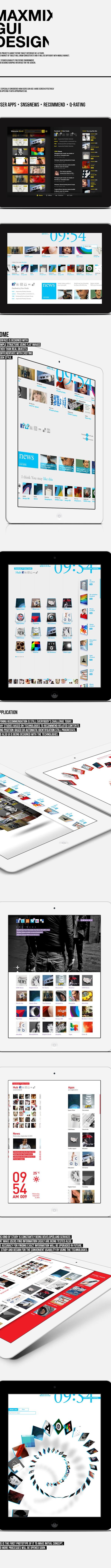 MAXMIX. Concept GUI & Motion on Behance
