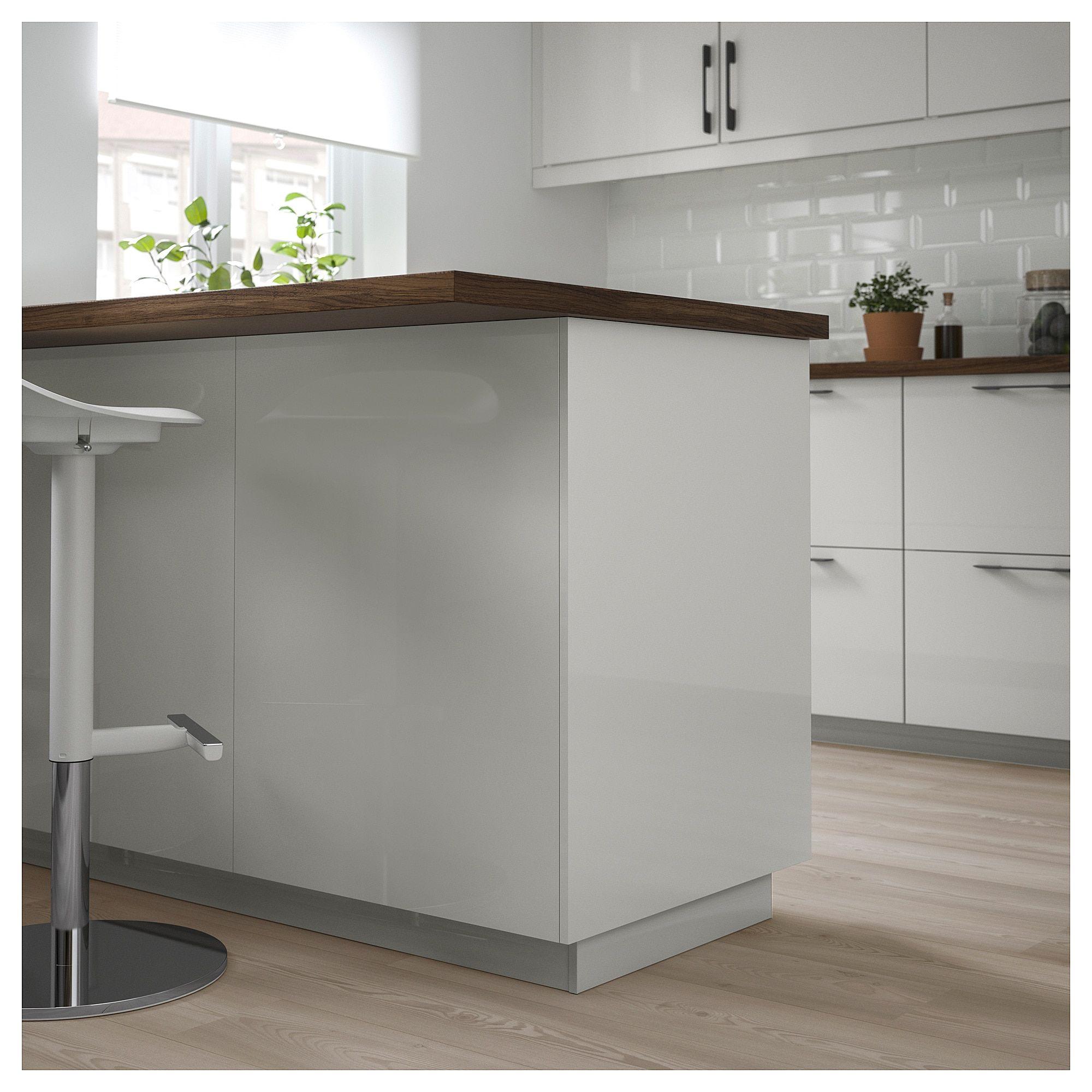 Facades Cuisine Ringhult Gris Clair Boiserie Blanche Ikea Design De Cuisine De Luxe