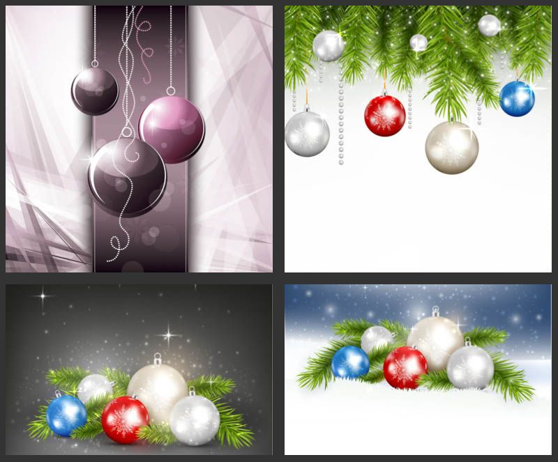 Christmas Greeting Cards With Shiny Balls Vector Designs Christmas Greeting Card Template Christmas Greeting Cards Vector Design