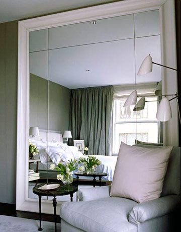Ideas de decoraci n decorar las paredes con espejos for Espejo grande pared