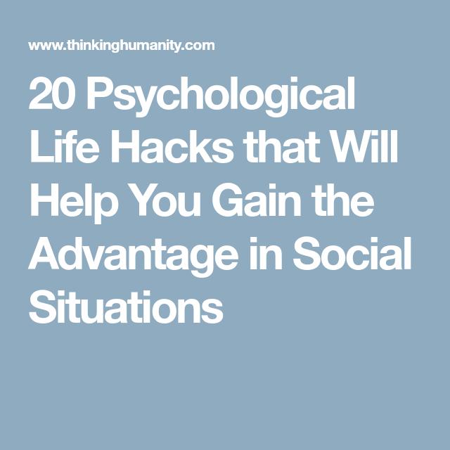 psychological life hacks
