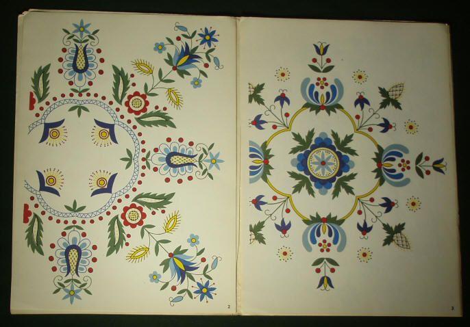 Embroidery Pattern Kaszuby folk art ethnic textile design Poland art ...