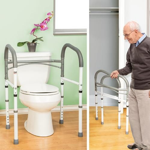 Folding Bathroom Safety Rail Better Senior Living Safety Around The Toliet Pinterest