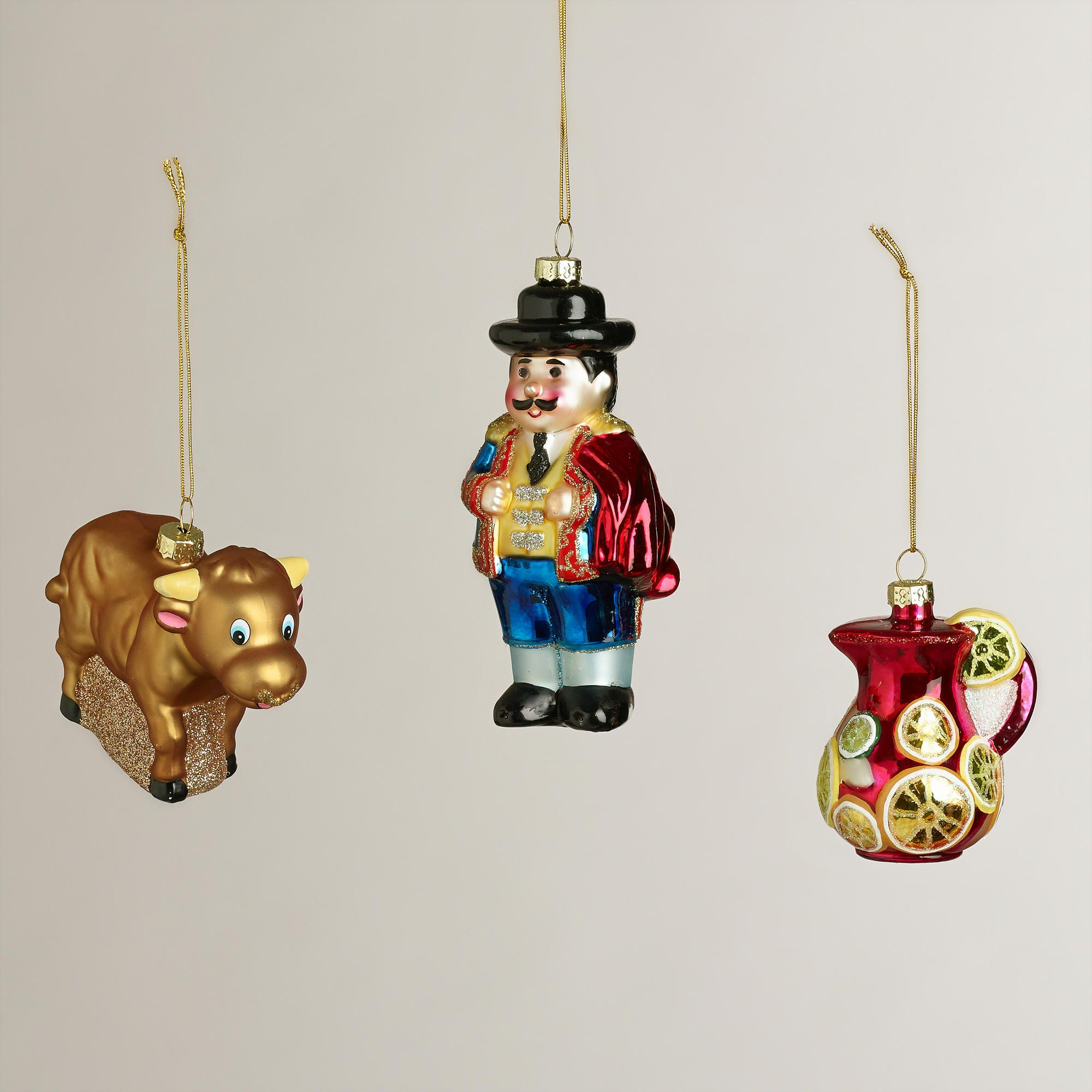 Christmas Ornaments Online Shopping Europe: Glass Spain Boxed Ornaments, Set Of 3 WAS $14.99