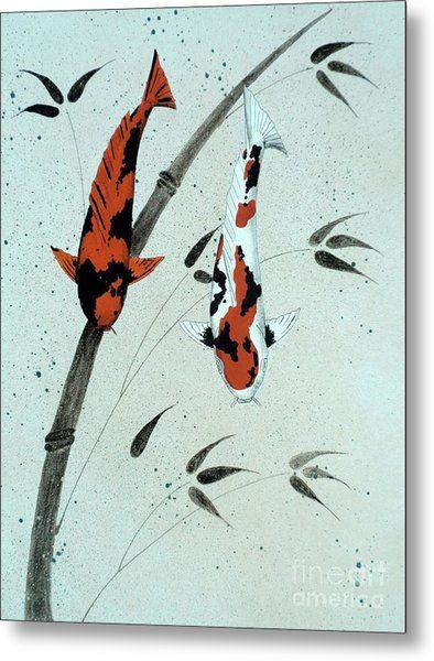 Japanese Koi Utsuri Mono and Showa Sanke 20 painting by Gordon Lavender