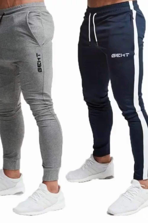 Calças esportivas masculinas calças respirável jogging