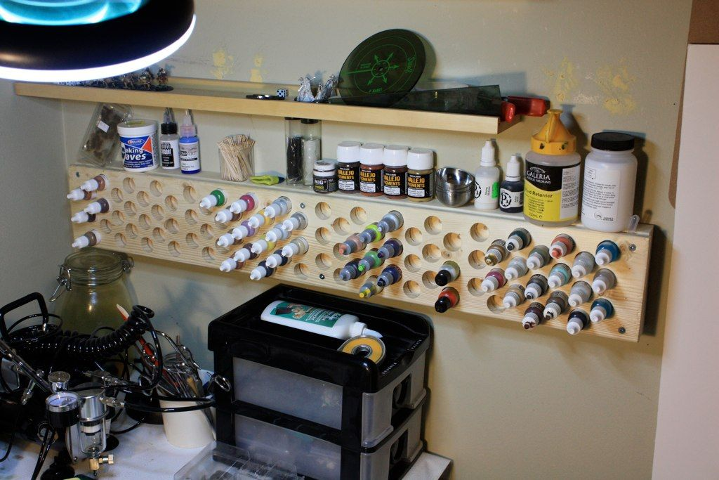 sambench3 paint storage paint rack air brush painting on attractive garage storages ideas to organize your garage get these few tips id=90135