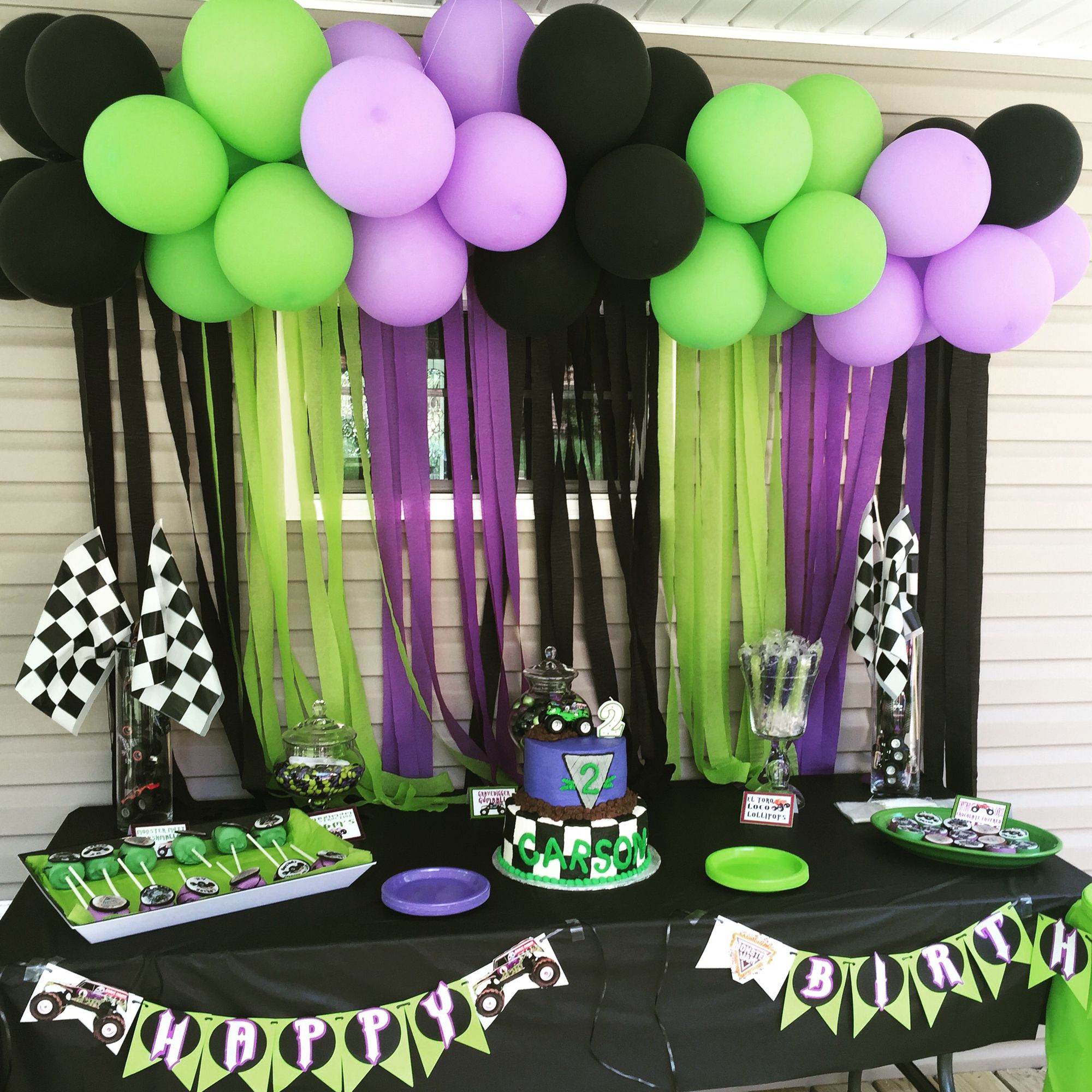 Grave Digger Party Monster Jam 2nd Birthday Pinterest