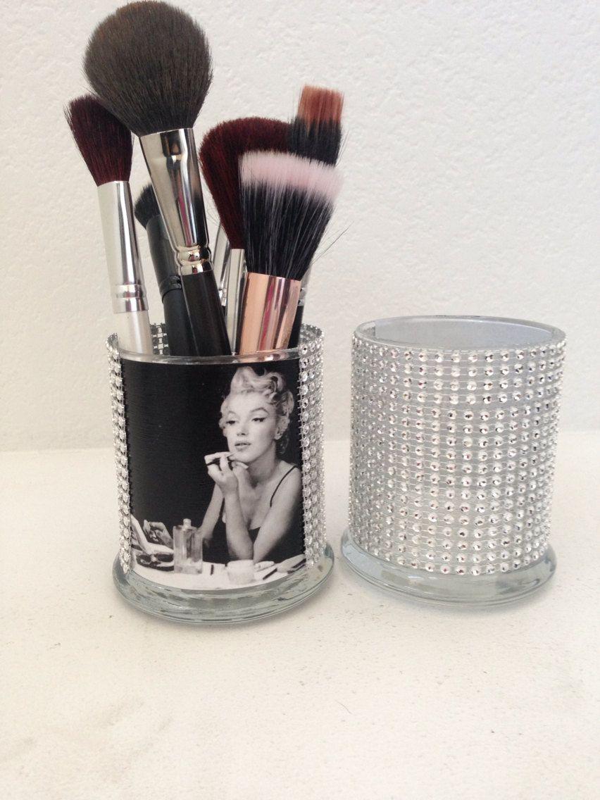 Marilyn Monroe inspired makeup brush holder by MLGalore on