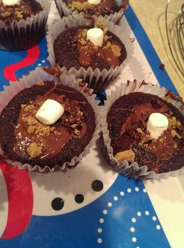 Maria made smore cupcakes.  They were very good.  From scratch.