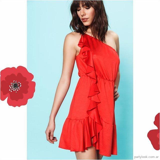 63381e4a1b Vestido corto rojo para fiesta verano 2019 - Las Oreiro