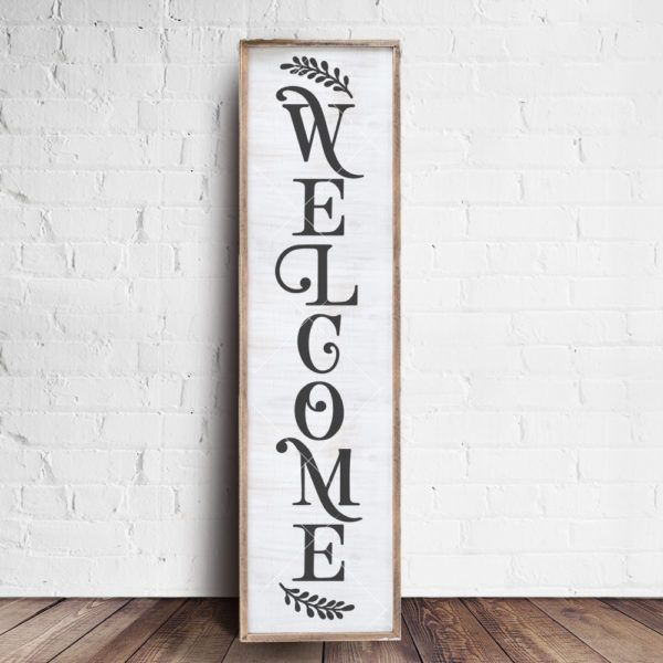 Weclome Vertical Front Door Sign Farmhouse Style Front Door Signs Wooden Welcome Signs Front Porch Signs