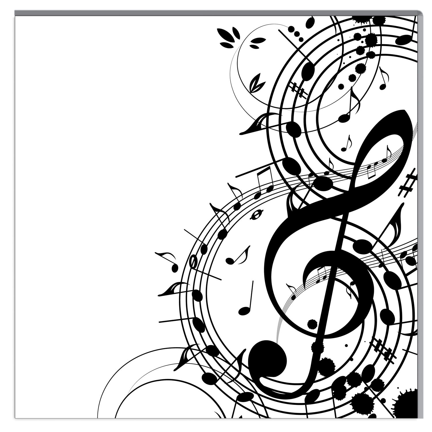 Background Music a vector illustration for your design
