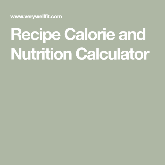 Photo of Recipe Calorie and Nutrition Calculator
