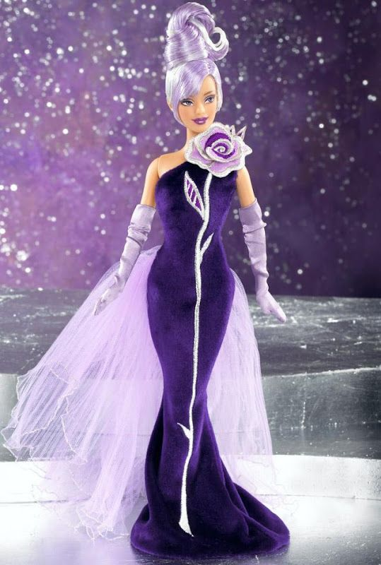 2002 Sterling Silver Rose Barbie® | Barbie Bob Mackie Collection *DESIGNERS