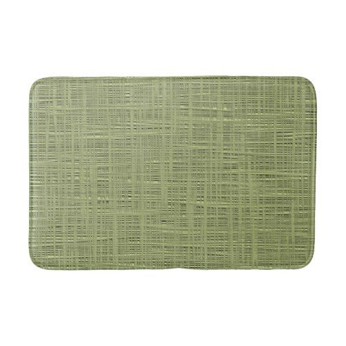 Chic Olive Green Faux Jute Weave Fabric Pattern Bath Mat Zazzle