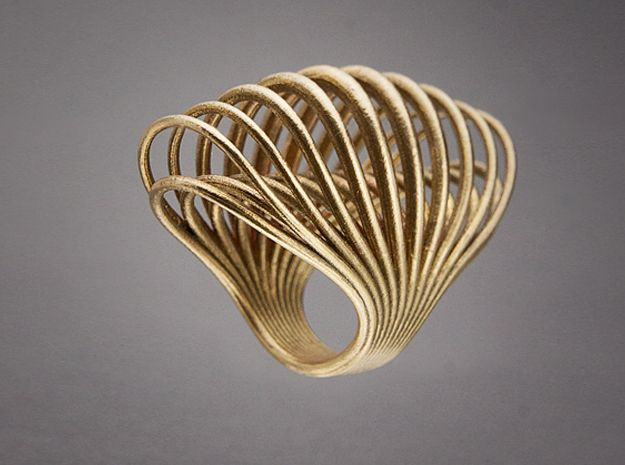 Ring 001 - 3d printed Raw Bronze  #3dprinters  Please join our FB chat and have another look at internet site for wonderful specials on 3d printed items and enjoy our training articles. https://www.facebook.com/3dprintingsa Maybe something for 3D Printer Chat?
