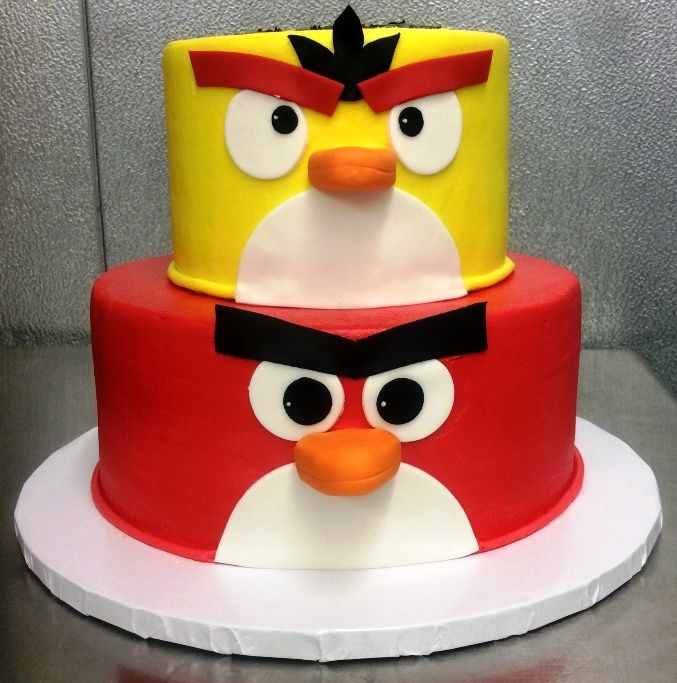 Awe Inspiring Angry Birds Party Cake In 2020 Angry Birds Birthday Cake Party Funny Birthday Cards Online Elaedamsfinfo